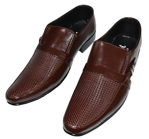 Luxury Classic Dress Shoes For Men - Chocolate Brown - Hiffey
