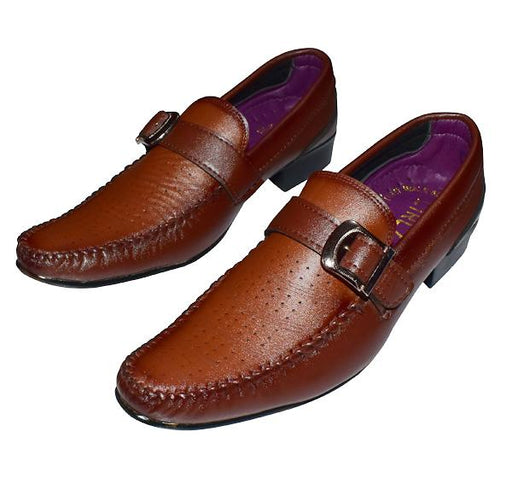 Men's Fashion Business Party Shoes - Brown - Hiffey
