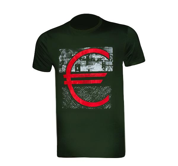 New Summer Slim Fit O Neck T-Shirt For Men - Drak Green - Hiffey