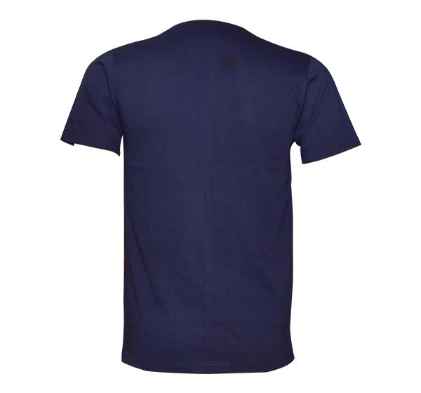 O Neck Slim Fit California T-Shirt For Men - Navy Blue - Hiffey