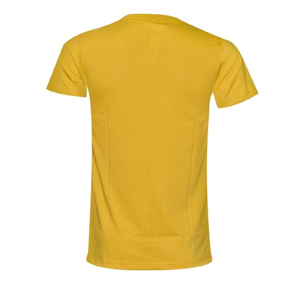 Fashionable Summer Slim Fit T-Shirt For Men - Yellow - Hiffey