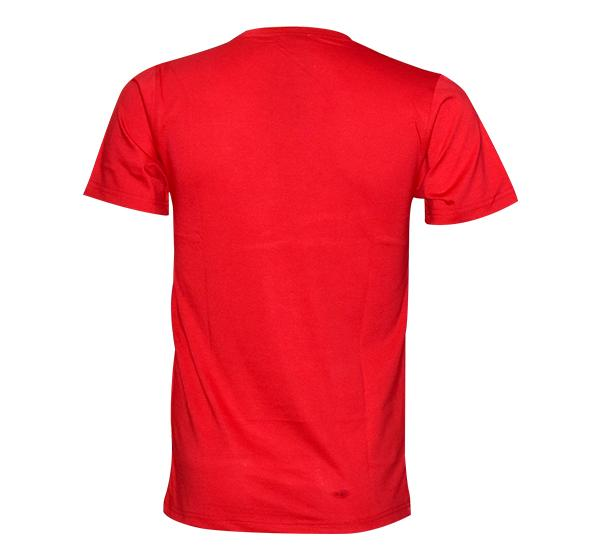 Slim Fit CK-Jeans Printed O Neck T-Shirt For Men - Red - Hiffey