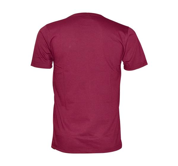 Slim Fit CK-Jeans Printed O Neck T-Shirt For Men - Maroon - Hiffey