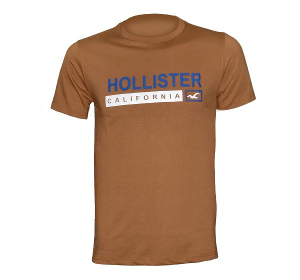 O Neck Slim Fit California T-Shirt For Men - Brown - Hiffey