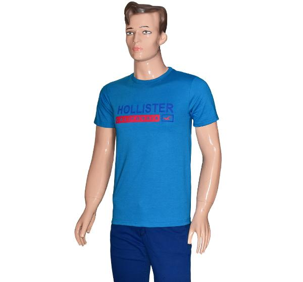 O Neck Slim Fit California T-Shirt For Men - Blue - Hiffey