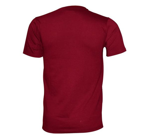 O Neck Slim Fit California T-Shirt For Men - Maroon - Hiffey