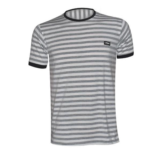 Classic Fashion Lining T-Shirt For Men - Gray - Hiffey