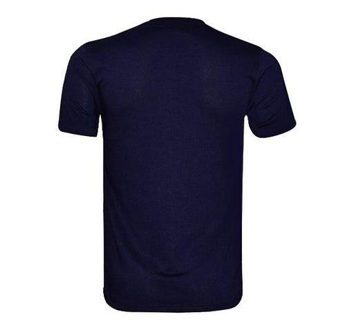 Check Pattern T-Shirt For Men - Navy Blue - Hiffey
