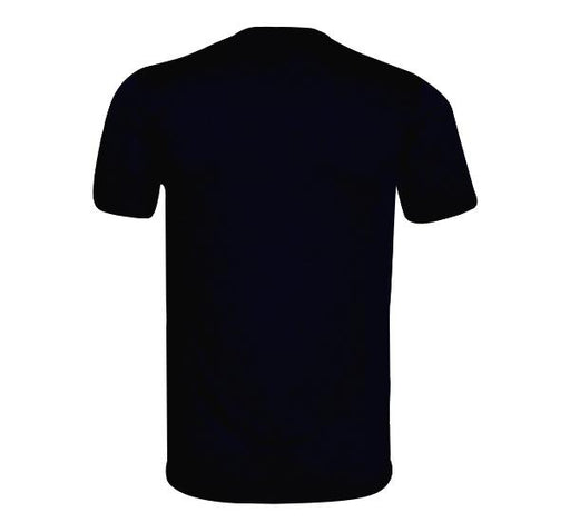 Check Pattern T-Shirt V Neck Design For Men - Black - Hiffey