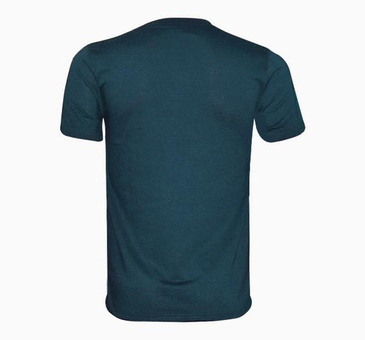 Check Pattern T-Shirt V Neck Design For Men - Sea Green - Hiffey