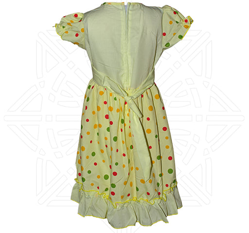 Heart Printed Style frock For Girls - Yellow - Hiffey
