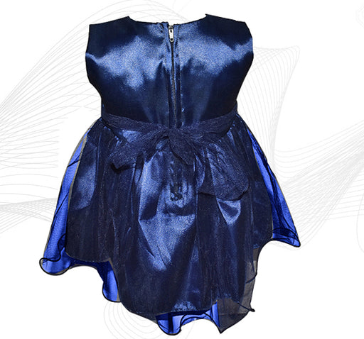 Fairy Frock Lace With Net Frill - Navy Blue - Hiffey