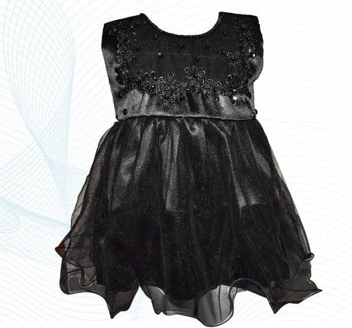 Fairy Frock Lace With Net Frill - Black - Hiffey
