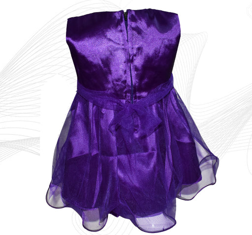 Fairy Frock Lace With Net Frill - Dark Purple - Hiffey