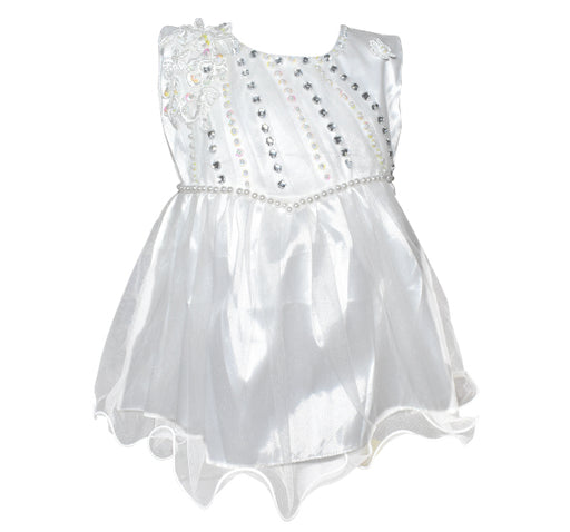 Fairy Frock Lace Bunch With Net Frill - White - Hiffey