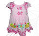 Cotton Frock Bow Design For Baby Girl - Pink - Hiffey