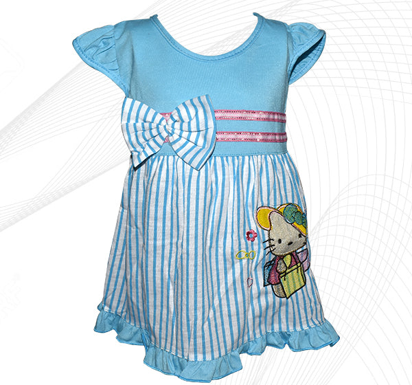 a3035b289 Hello Kitty Style Frock For Baby Girl - Sky Blue - Hiffey