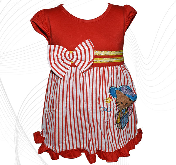 b7542a5c4 Hello Kitty Style Frock For Baby Girl - Red - Hiffey