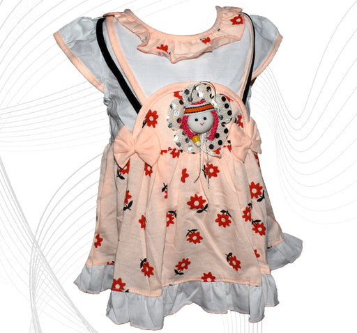 Doll Face Frock For Baby Girl - Peach - Hiffey