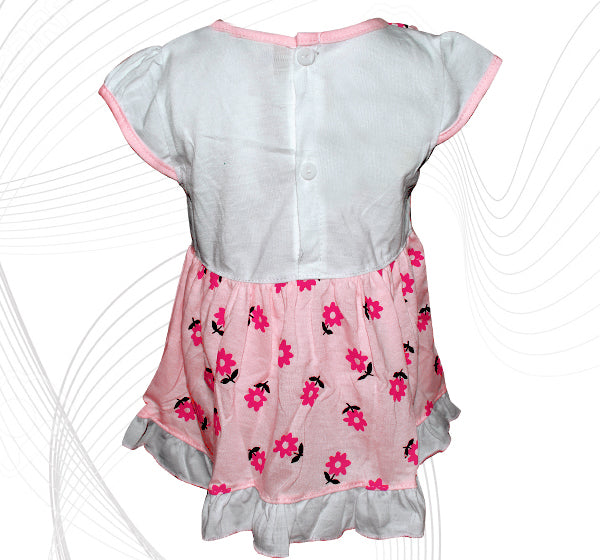 Doll Face Frock For Baby Girl - Pink - Hiffey
