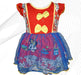 Minnie Mouse Printed Frock For Baby Girl - Red - Hiffey