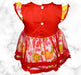 Teddy Bear Frock For Baby Girl - Red - Hiffey