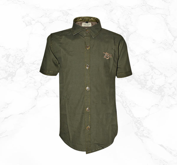 Green Casual Shirt for Boys - Hiffey