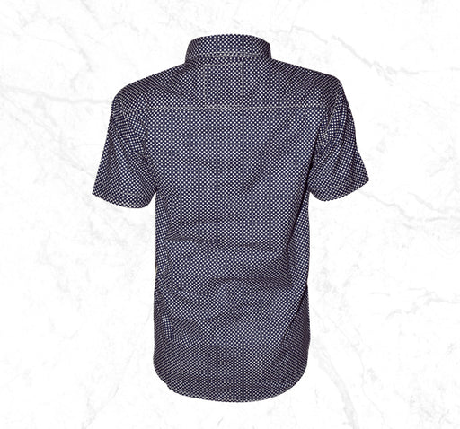 Navy Blue with Polka Dots Casual Shirt for Boys - Hiffey