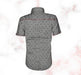 Black Star Printed Casual Shirt for Boys - Grey - Hiffey