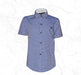 Small Dotted Cotton Shirt For Boys- Purple - Hiffey