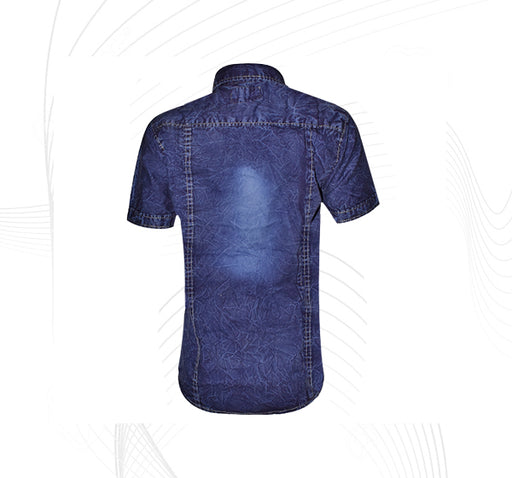 Jeans Blue Casual Shirt for Boys - Hiffey