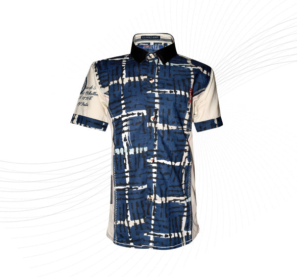 Striped Casual Shirt For Boys - Navy Blue - Hiffey