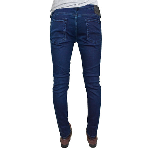 Slim Fit Stretchable Jeans For Men - Dark Blue - Hiffey