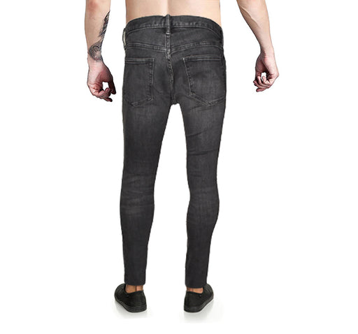 Denim Black Skinny Fit Jeans For Men - Hiffey