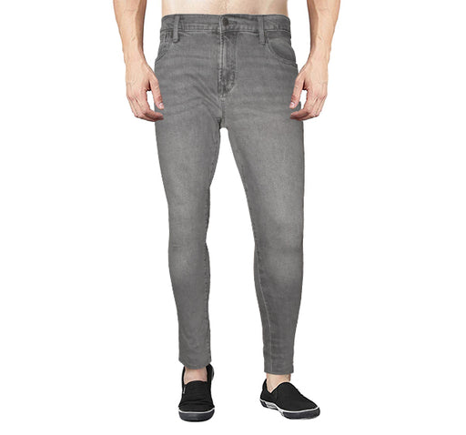 Denim Grey Skinny Fit Jeans For Men - Hiffey