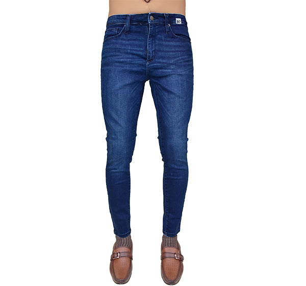 Wrinkle Free Stretchable Jeans For Men - Blue - Hiffey