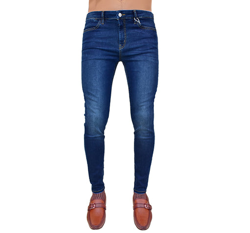 Stretchable Jeans For Men - Royal Blue - Hiffey