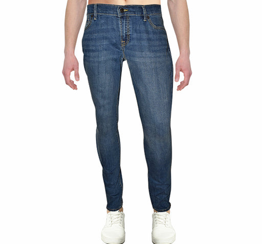 Denim Blue Slim Fit Jeans For Men - Hiffey