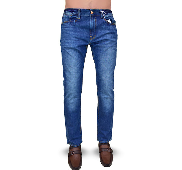 Denim Stretchable Jeans For Men - Blue - Hiffey