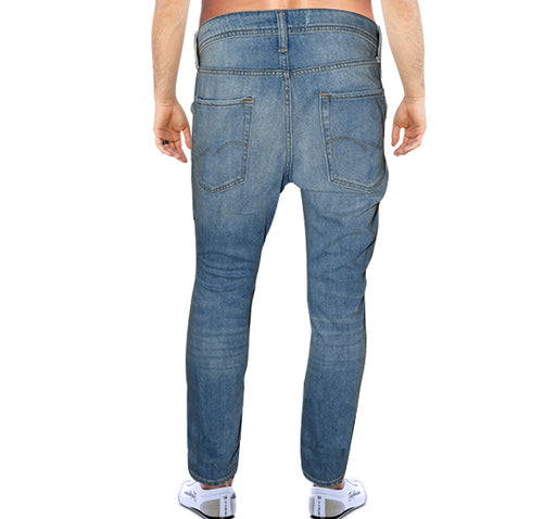 Denim Full Bleach Shaded Jeans For Men - Light Blue - Hiffey