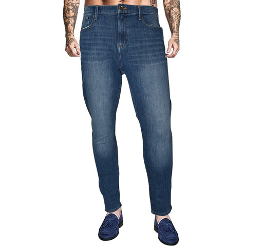 Relaxed Fit Straight Leg Jeans For Men - Blue - Hiffey