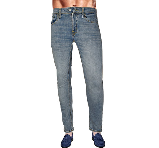 Flexi Slim Denim Men Blue Jeans - Faded Blue - Hiffey