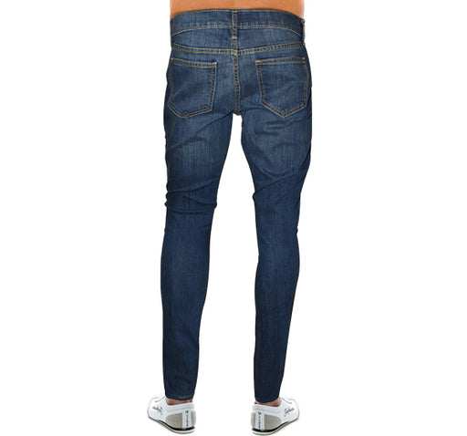 Relaxed Fit Jeans For Men - Blue - Hiffey