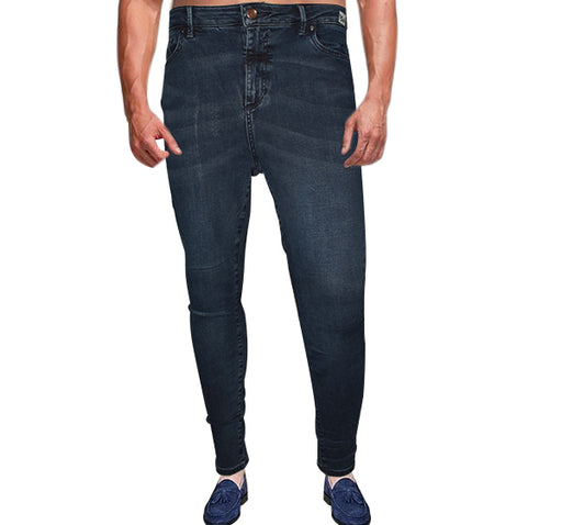 Flexi Slim Men Blue Jeans - Navy Blue - Hiffey