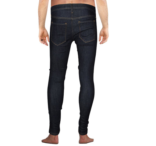Modern Skinny Jeans For Men - Navy Blue - Hiffey
