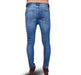 Narrow Bottom Stretchable Jeans For Men - Blue - Hiffey