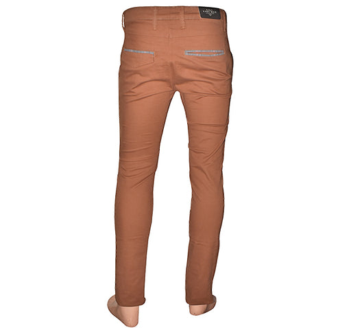 Slim Fit Cotton Chino Pant For Men - Chocolate Brown