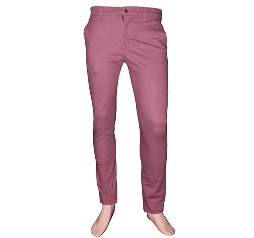 Slim Fit Cotton Chino Pant For Men - Maroon - Hiffey