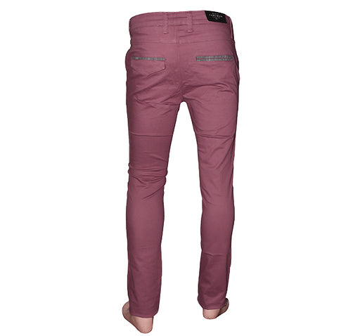 Slim Fit Cotton Chino Pant For Men - Maroon