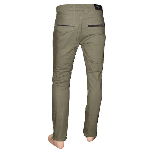 Slim Fit Cotton Chino Pant For Men - Light Green - Hiffey